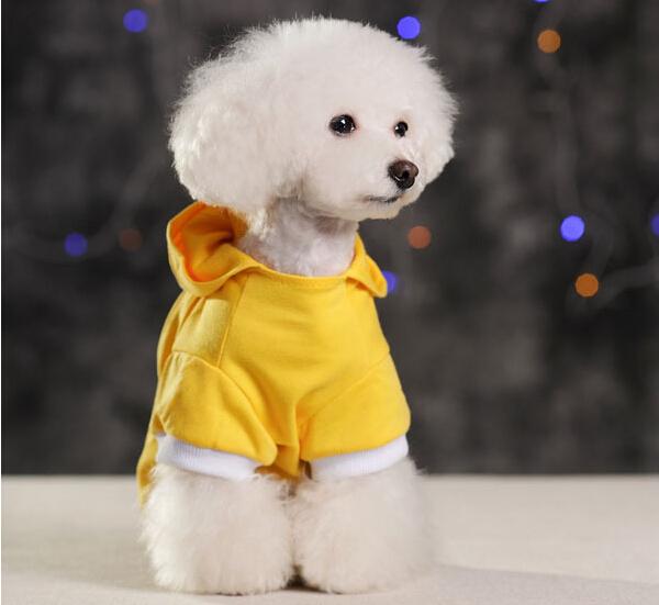 Camisolas de casacos colete Pet dog hoodies de quatro S M L XL preto
