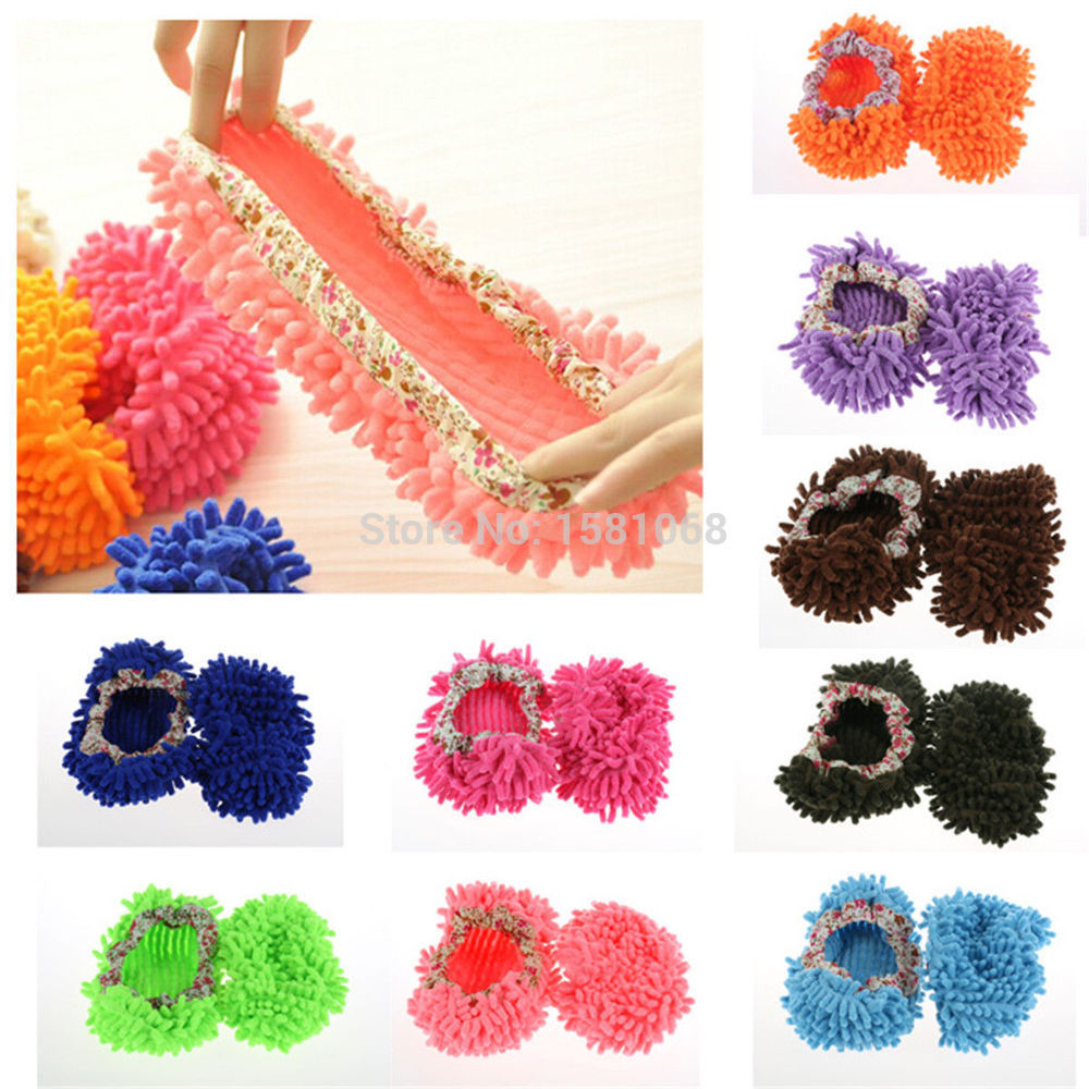 1PC Lazy Dust Cleaner Slipper Shoes Cover Mop House Bathroom Floor Cleaning(China (Mainland))