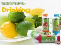 2 шт/много поколения один лимон Кубок сок источник жизнеспособности бутылку воды фруктов Кубок drinkware для наружной fun & спорта