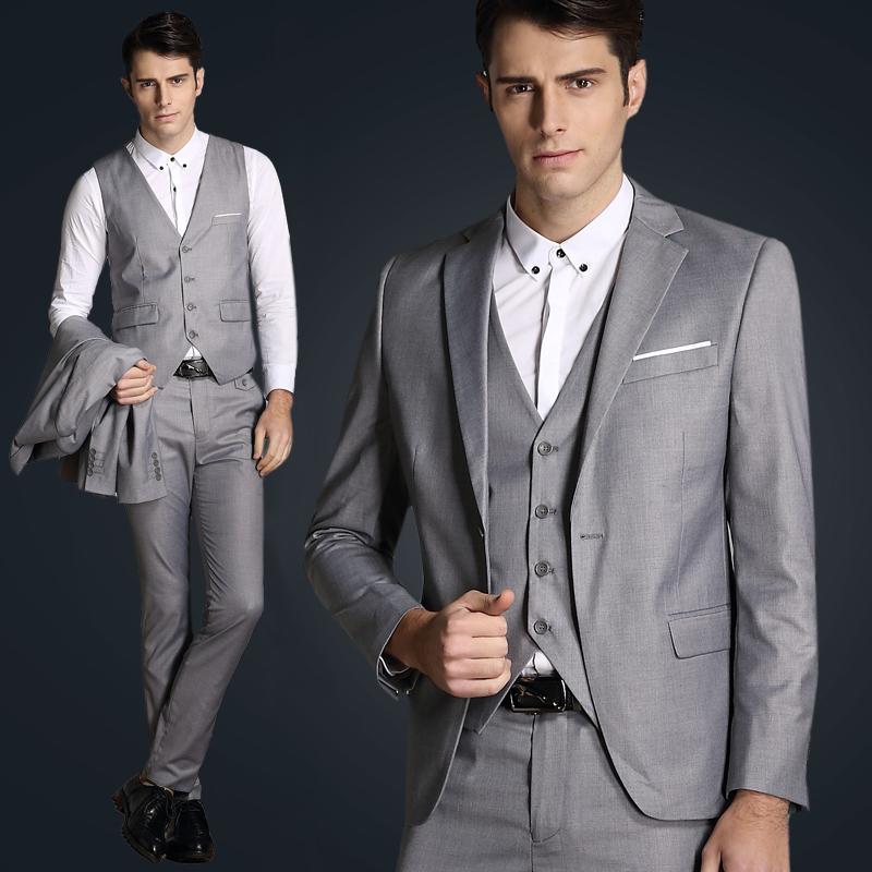 italian luxury mens grey suits jacket pants formal dress