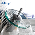 Frap Excellent Quality Solid brass Bathroom Basin Mixer Tap Waterfall Faucet Sink Vessel Chrome Polished Finish