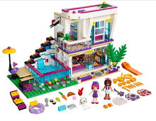 Girl Series Livi's Pop Star House Minifigures Building Blocks Cartoon 619pcs Sets Models Figures Bricks Toys For Children(China (Mainland))