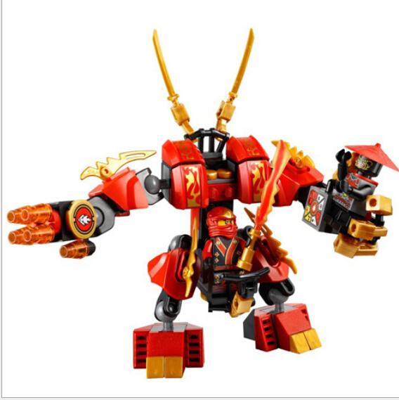 2014 New Ninjago Ninja Kai Flame Mech Building Block Sets DIY Education Brinquedos Meninos educativos Bela Lego Compatible(China (Mainland))