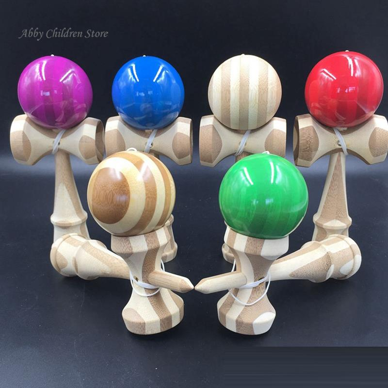 Bamboo Kendama Professional Bamboo Toy Kendama Skillful Juggling Ball Game Toy Gift For Children Adult Christmas Toy Gift(China (Mainland))