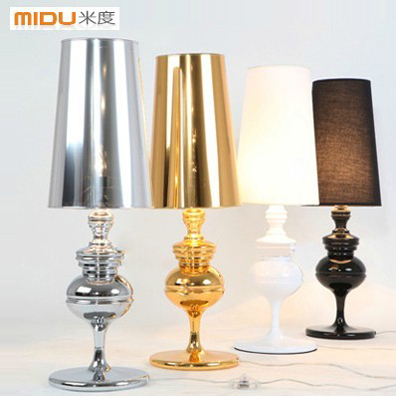 Free Shipping,Wholesale Price,Bedoom/Parlor Light,Golden/Silvery/Black/White Modern Bedside table Lamps For Home Decoration(China (Mainland))