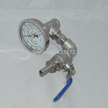 Wort chiller termómetro y válvula de control Home Brewing