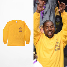 2016 Yeezy Kanye West I Feel Like Kobe long sleeve commemorate T shirt(China (Mainland))