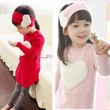 2016 Spring new girls children sets Long Sleeve cotton blouse pure color leggings cute headband Free shipping