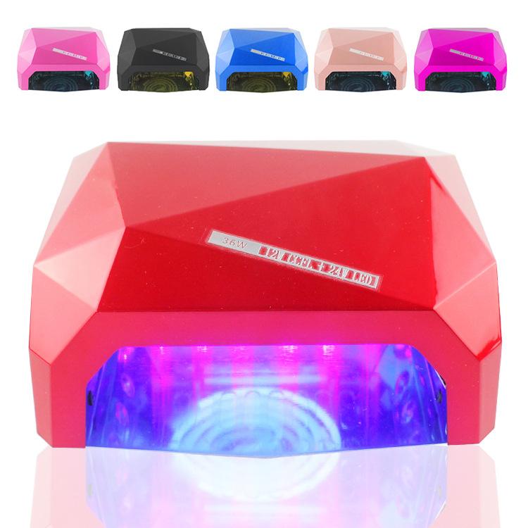 PRO LED uv lamp 36 w 110-220V gel nail machine dry nails Diamond Shaped Best Curing Nail Dryer UV Gel Nail EU Plug