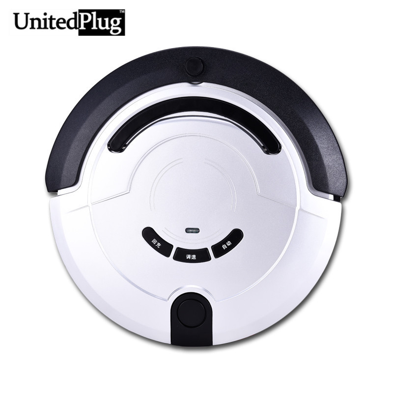 UnitedPlug 3 in 1 Multifunctional auto Cleaning Robot remote control clean machine with Side-brush & LED 5 work modes KRV209(China (Mainland))