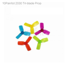 10 pair 2030 2inch tri-blade propeller compatible 1102 1104 1105 in 7500kv brushless motor for 80/90/110/130mm FPV Micro Drone(China (Mainland))