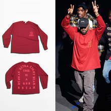 C4 Hip Hop Tees I Feel Like Pablo T-Shirt Kanye West Men T Shirts Long Sleeve 2016 Lovers Streetwear Red HXBF9999CJ
