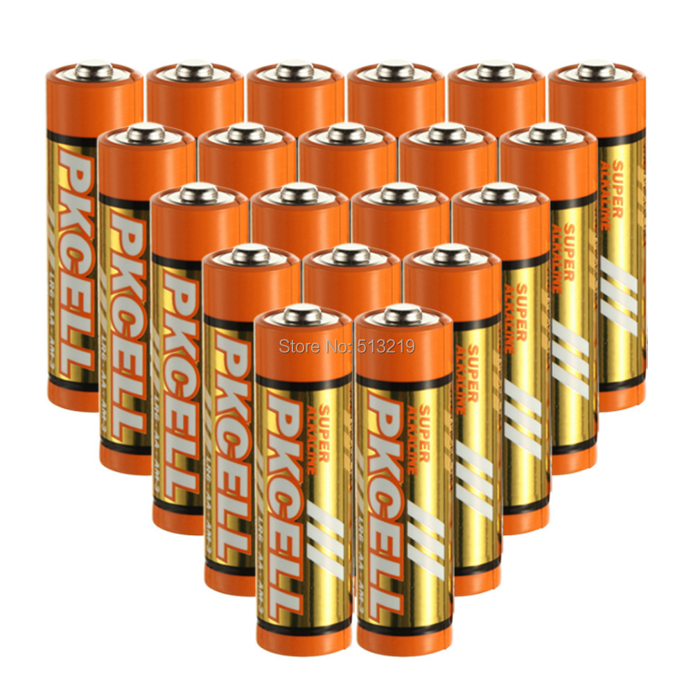 Pkcell 20PCS/Lot  AA Size  LR6/AM-3  Alkaline Battery Dry Cell Dry Battery Free Shipping<br><br>Aliexpress