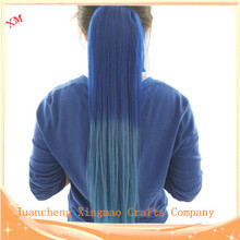 100% Human Hair Ponytail Ombre Color Fashion Color for Women Very Silky Straight Thick Hair(China (Mainland))