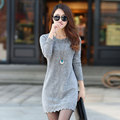 2016 Women Winter Sexy Dress Long Sleeve Thicken Party Slim Fit Package Hip Hedging Knitted Sweaters