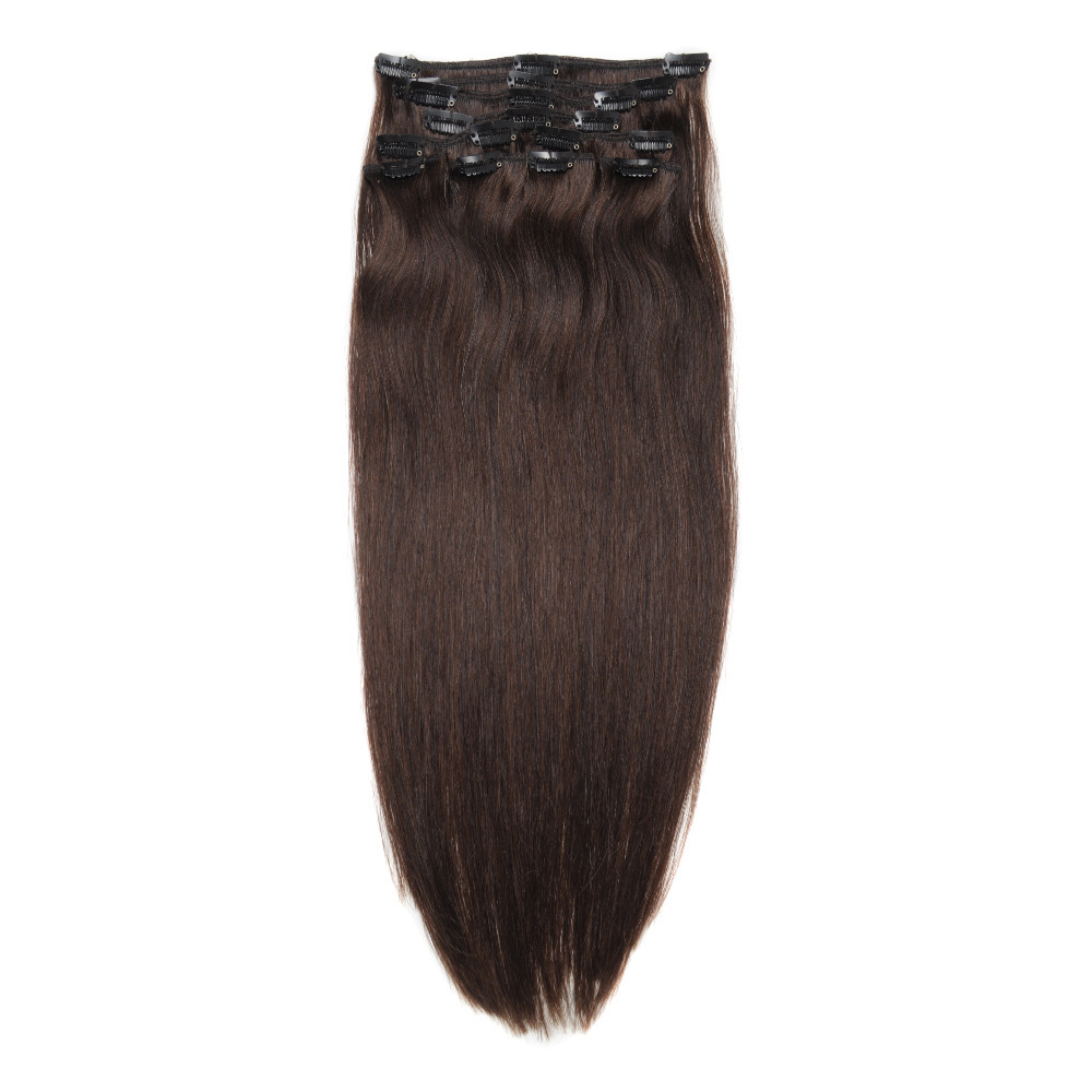 Double Wefted Clip In Remy Human Hair Extensions 51