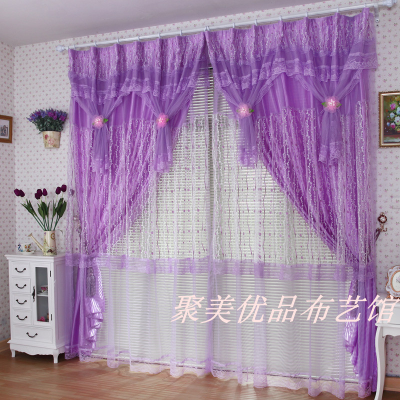 Custom Luxury Modern Princess Chinese Sheer Curtains For