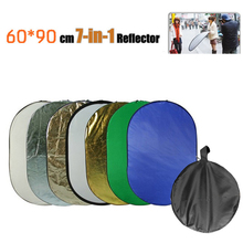 2015 NEW Handheld Collapsible 7-in-1 23.6″x35.4 60cmx90cm Photograph Photo Studio Light Oval Reflector Disc Free Shipping