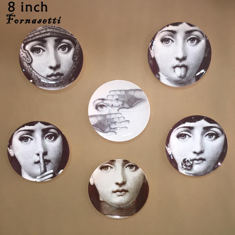 2015 beste verkopen nieuwe europa beeldjes itali fornasetti decoratieve platen diy kunst muur - Decoratieve platen ...