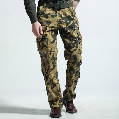 Fashion Casual Sport Outdoors Winter Cargo Pants Mens Camouflage Military Pants Multi Pocket High Quality Men Long Trousers(China (Mainland))
