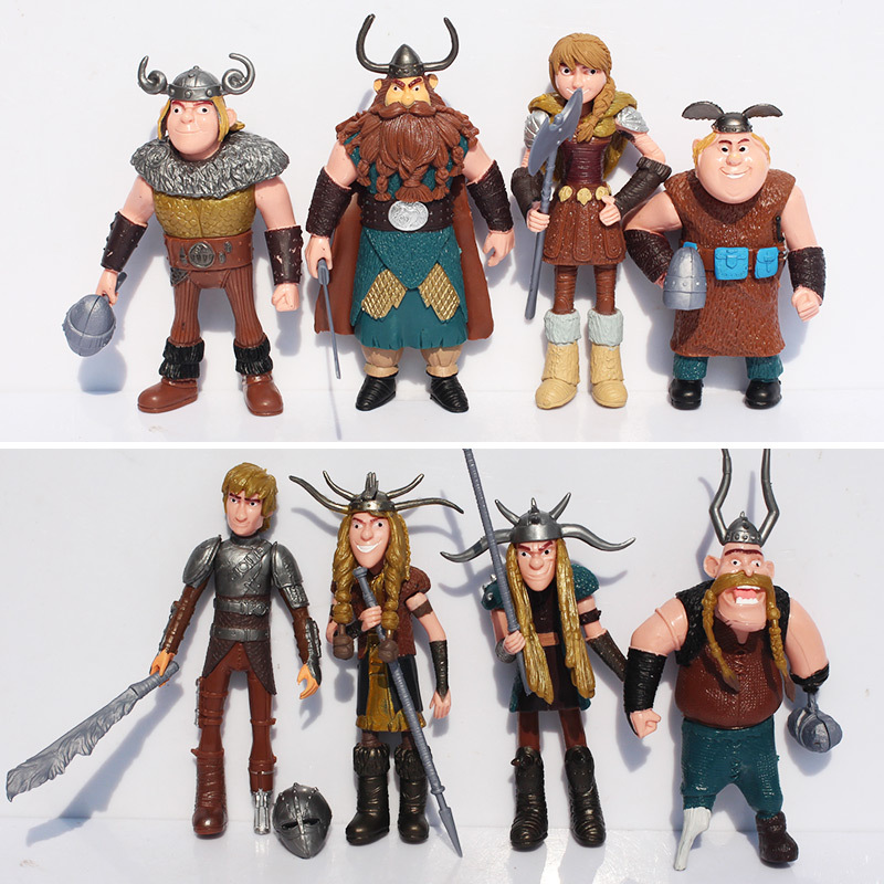 8pcs/lot How To Train Your Dragon 2 PVC Figures Toys Gift For Boys Free Shipping(China (Mainland))
