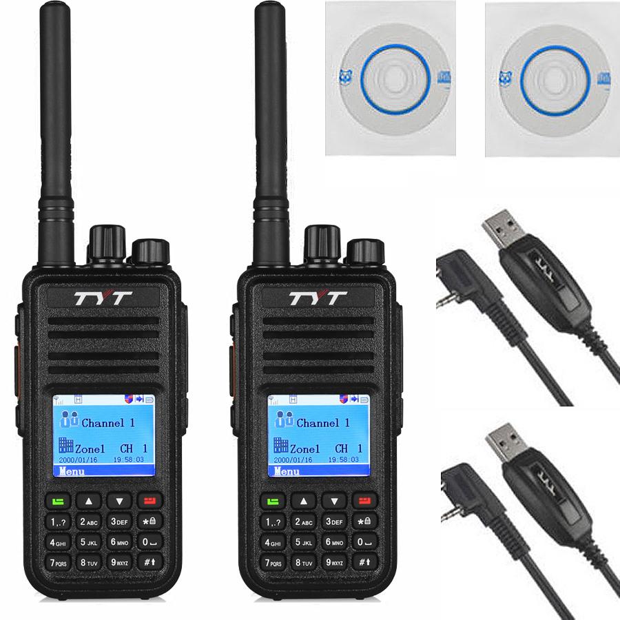 2pcs x TYT Tytera MD380 UHF 400-480MHz DMR Digital Radio 1000 Channels Walkie Talkie+ 2x USB Programming Cable&CD md380(China (Mainland))