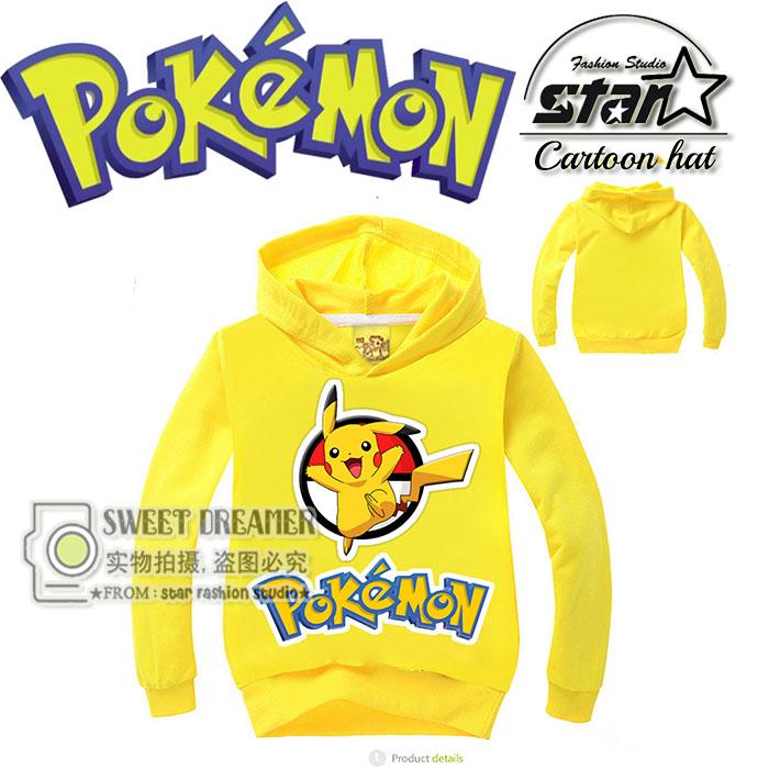Cute Kids Causal Hoodie Coat Cartoon font b Pokemon b font GO Pikachu Fashion Sweatshirt for