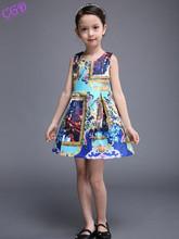 Hot Sale 2016 New font b Girl b font Dress Summer Fashion Printed Dress Baby font