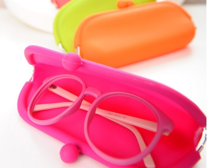 Eco-friendly Silicone Lady Candy Color Eyeglasses box Wallet Coin Purse Pouch Bag Case - Yiwu Mekey Stationery Co., Ltd store