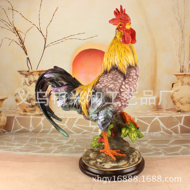 <font><b>Home</b></font> feng shui garden <font><b>decoration</b></font> <font><b>decoration</b></font> <font><b>Rooster</b></font> pastoral <font><b>Home</b></font> Furnishing resin crafts wholesale XH522