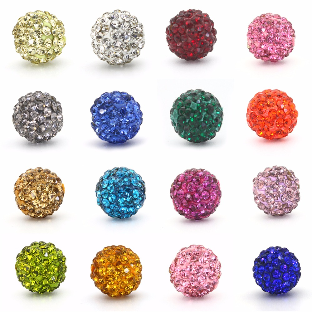 50pcs/lot Micro Pave Disco Ball Shamballa Beads for Making Up Material DIY Bracelet Necklace Jewerly Spacer Beads 8MM 10MM 6 Row(China (Mainland))