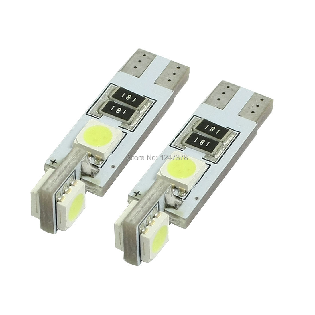 2 Pcs/lot Car Vehicle T10 5050 SMD W5W 4 White LED Canbus Wedge Replacement Lamp Bulb door dome Trunk light(China (Mainland))