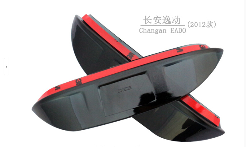 Only suitable, changan eado, 2012 model year, the rearview mirror rain eyebrow, acrylic material, translucent, free shipping(China (Mainland))