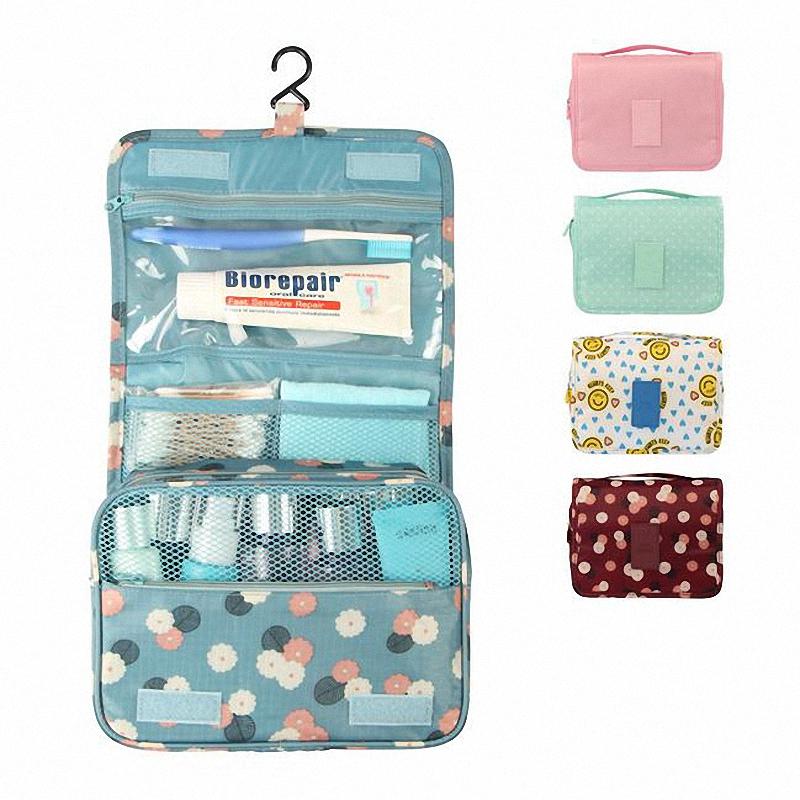 Hot Sold Nylon Waterproof Makeup Bags Organizer Women Cosmetic Cases Travel Bag Lady Cosmetic Bag LI-1162(China (Mainland))