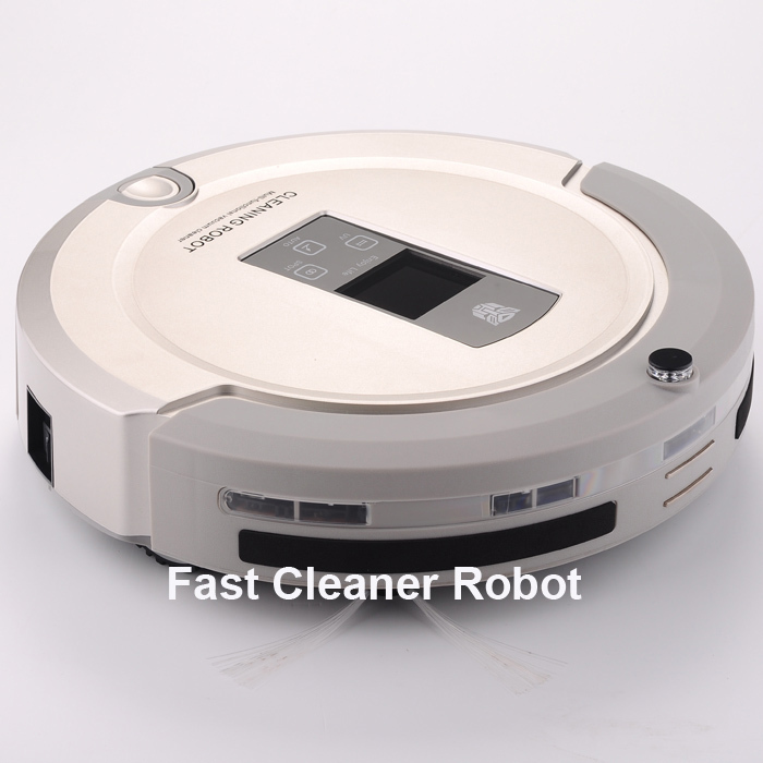 Free Shipping/2016 Brand New Arriving Wet&Dry Robot Vacuum Cleaner+Lowest Nosie+ Longest Working Time+UV lights(China (Mainland))