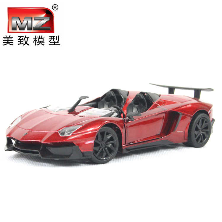 Free Shipping Large Scale Simulation Alloy Car The original car model induced by Super Roadster LP700J on behalf of a car model(China (Mainland))