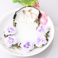 Fashion Stylish Hot Sale Peony Flower Garland Floral Bridal Headband Hairband Wedding Prom Hair Bands Hair
