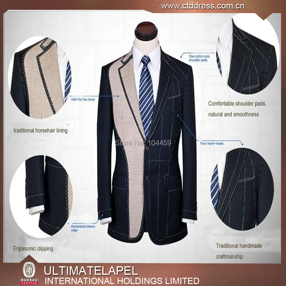 custom tailor made suit/ full canvas suit/ half canvas suit for individual