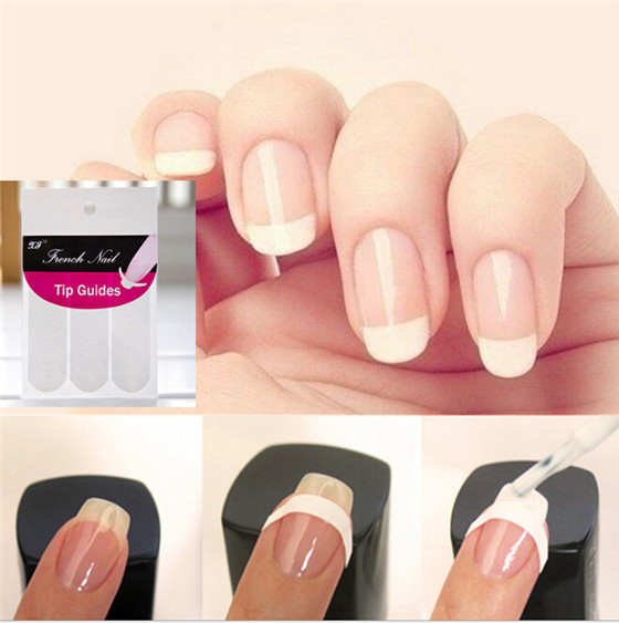 Wholesale Hot Sale Tips Guide Nail Sticker French Manicure Nail Art ...