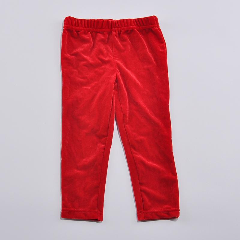 Red velvet kids christmas girls pants trousers baby girls leggings fantasia infantil cheap