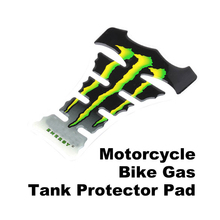 Nuovo arrivo freddo flame moto gas tank pad sticker fibra di carbonio tankpad protector moto bicicletta sticker verde BHU2(China (Mainland))