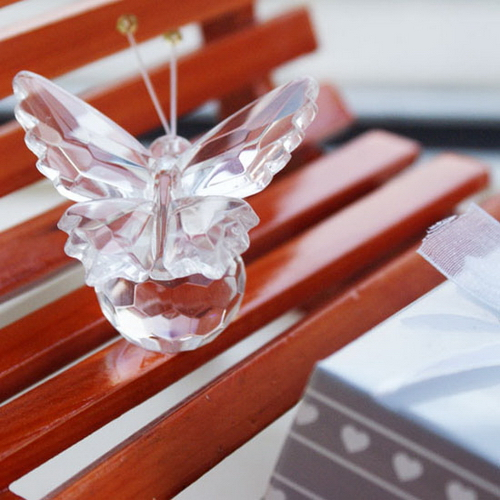 50Pcs Birthday Party Favor With Gift Box Lembrancinha De Casamento Bridal Party Gifts Butterfly