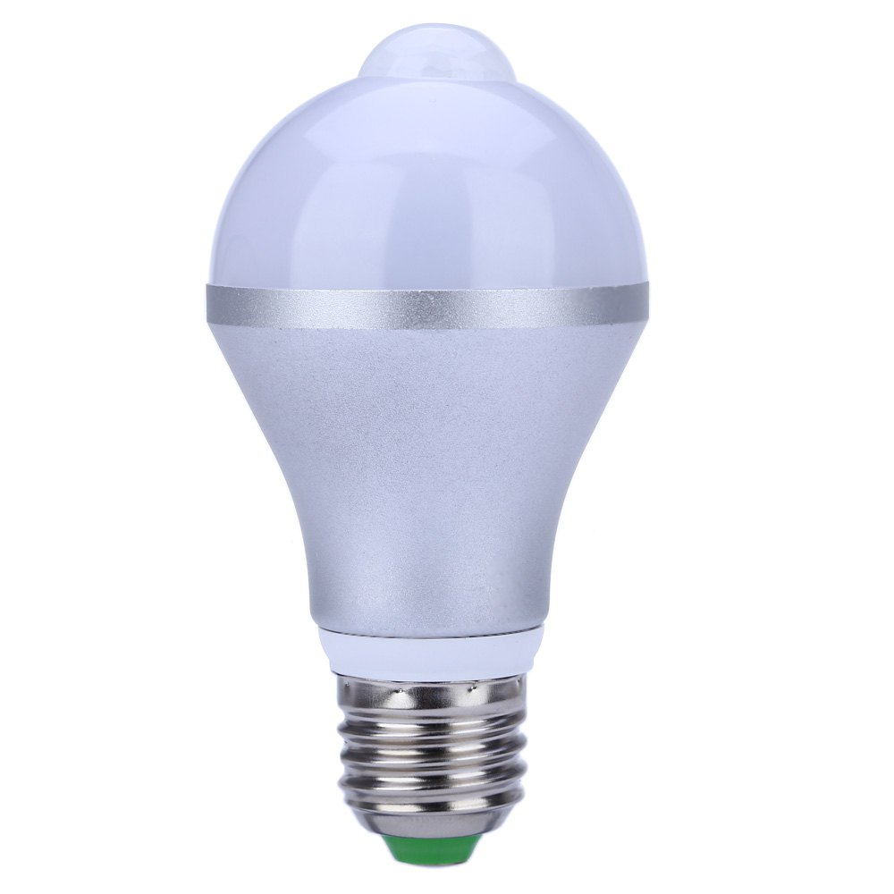 High brightness Unique circuit design 2 Colors E27 AC 85 - 265V 5W 500LM Human Body Induction LED Bulb Light(China (Mainland))