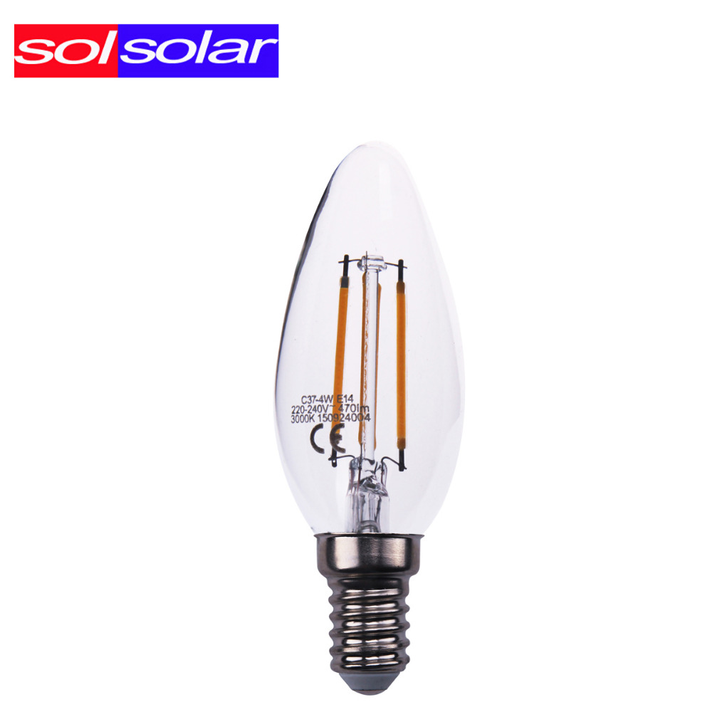 2w 3w 4w e14 220v 240v ac e14 led filament candle bulbs cri 85 360 degree c37 replace 30w 50w. Black Bedroom Furniture Sets. Home Design Ideas