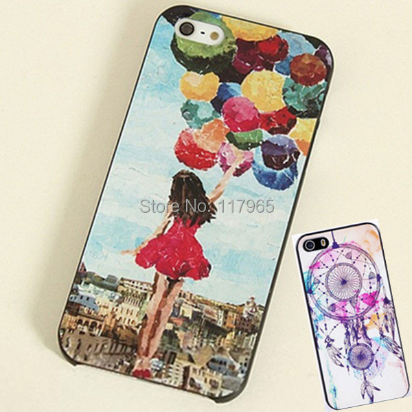 Fashion Cute fresh color summer free owl girl Design Pattern Hard Back Case Cover For Apple iPhone 4 4S Phone Shell Hard PC Skin(China (Mainland))