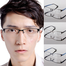 Hot Men's Metal Frame Clear Lens Half Rim Eyewear Glasses 3 Colors Spectacles Wholesale Free Shipping