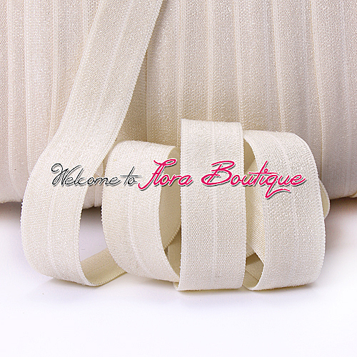 16mm high quality matte fold over elastic #815 cream for women hair ties/hair bands/hair accessories with limited quantity(China (Mainland))