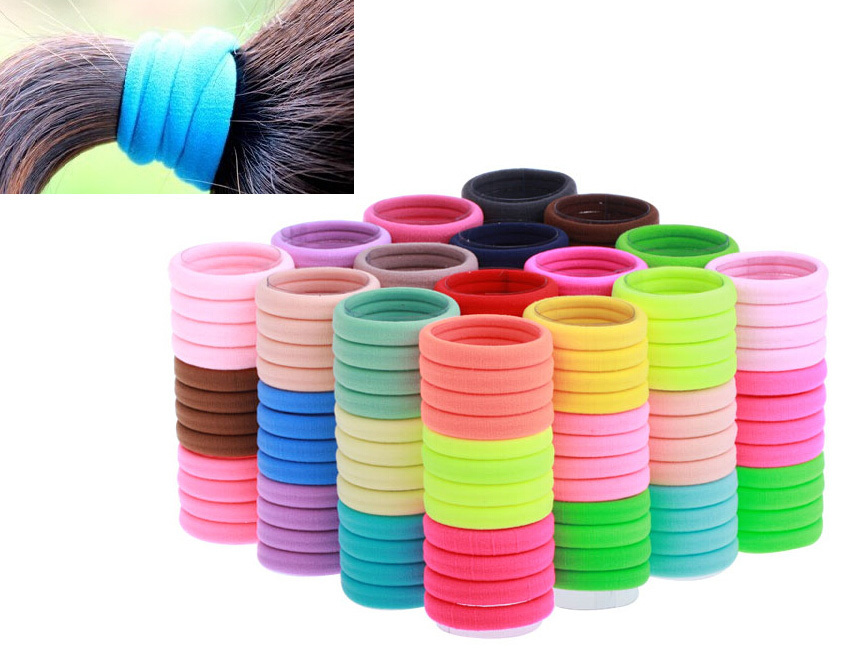 20pcs Candy Fluorescence Colored 4cm Hair Holders Rubber Hair Bands Hair Elastics HairBand Accessories Hair Tie(China (Mainland))