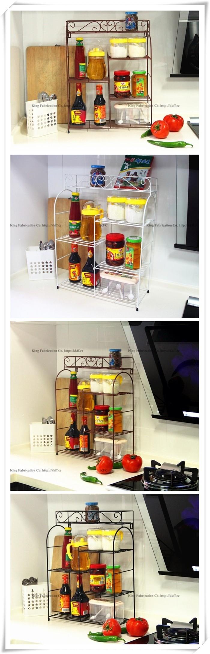 Buy European-style wrought iron kitchen shelf storage rack wall mounted kitchen knife kitchen Spice rack cheap