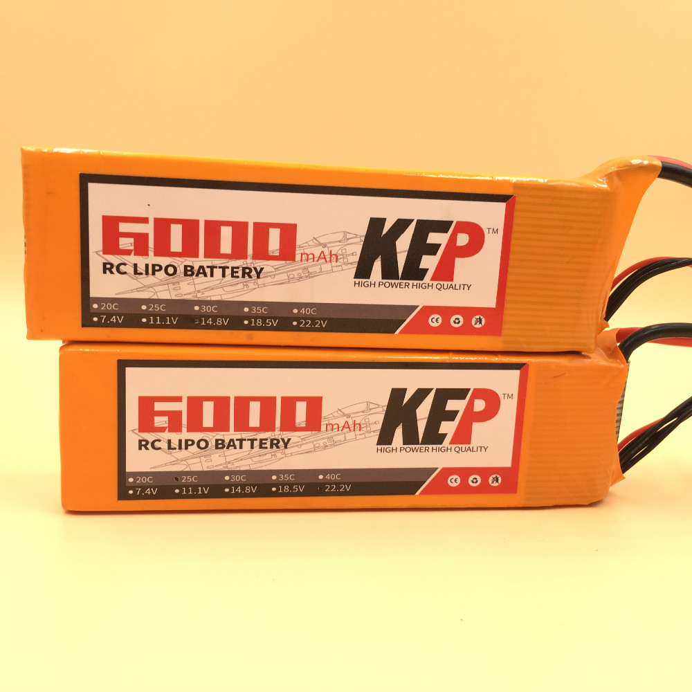 KEP 4S Lipo Battery 14.8v 6000mAh 25C For RC Aircraft Helicopter Car Boat Quadcopter Drones Li-Polymer Battery 4S AKKU